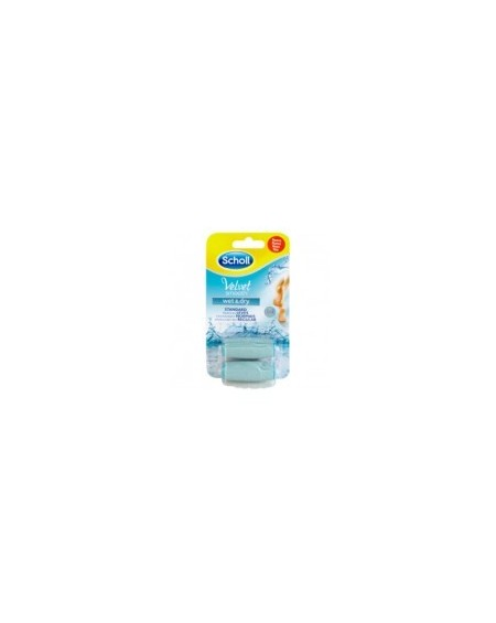 Dr. Scholl Velvet Smooth Wet & Dry Ανταλλακτικό Regular 2τμχ
