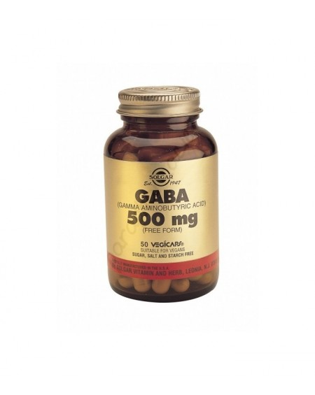 Solgar Gaba 500mg Vegicaps 50s