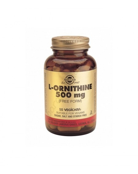 Solgar L-Ornithine 500mg Vegicaps 50s
