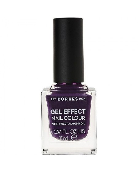 korres Gel Effect Nail Colour 75 (Violet Garden) Με Αμυγδαλέλαιο & Διάρκεια έως 10 Ημέρες. 11ml