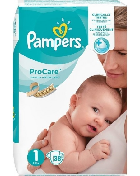Pampers Pro Care Premium Protection No1 (2-5kg) 38τμχ