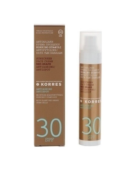 Korres Sunscreen Face Antispot Red Grape SPF30 50ml