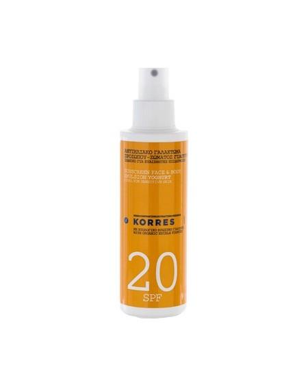 Korres Sunscreen Face & Body Yoghurt SPF20 150ml