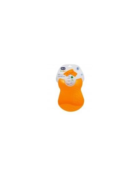 Chicco Σαλιάρα Πλαστική Πορτοκαλί 6M+