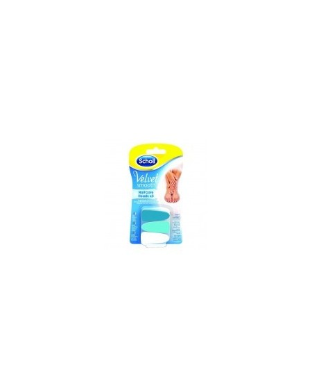 Dr. Scholl Velvet Smooth Nail Care Heads 3pcs