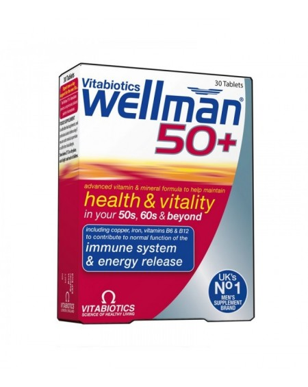 Vitabiotics Wellman 50+ 30 Tabs