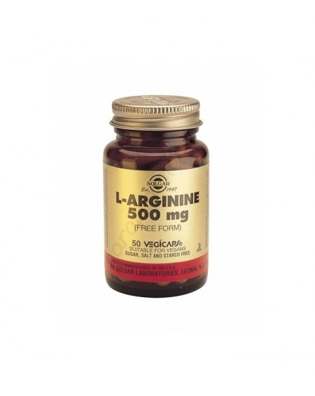 Solgar L-Arginine 500mg Vegicaps 50s