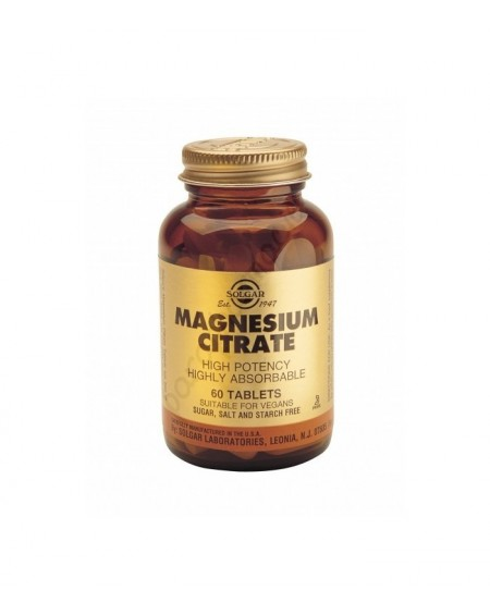Solgar Magnesium Citrate 200MG TABS 60S