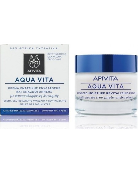 Apivita Aqua Vita Revitalizing Cream-Gel For Oily-Combination Skin 50ml