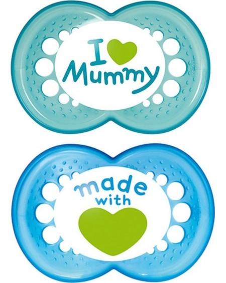 ΠΙΠΙΛΑ MAM I love Mummy x2 - Θηλή από σιλικόνη ΜΠΛΕ