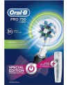 Oral-B Pro 750 3D White BLACK Colour & Bonus Travel Case