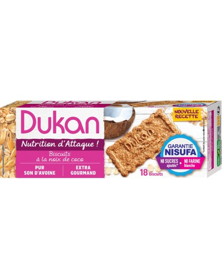 Dukan Μπισκότα βρώμης με γεύση καρύδα 225gr