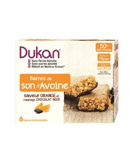 DUKAN - Μπάρες Βρώμης με Σοκολάτα και Πορτοκάλι - 6τεμ.