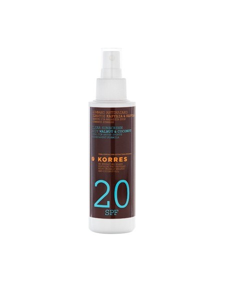 Korres Clear Sunscreen Body Walnut-Coconut SPF20 150ml