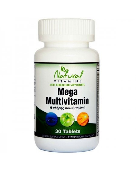 NATURAL VITAMINS MEGA MULTIVITAMIN 30 TABS