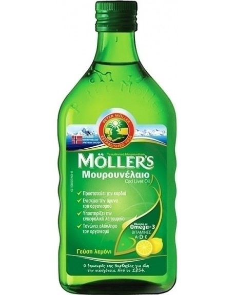 Moller's Cod Liver Oil 250ml Λεμόνι