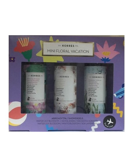 Korres Mini Floral Vacation 3x80ml